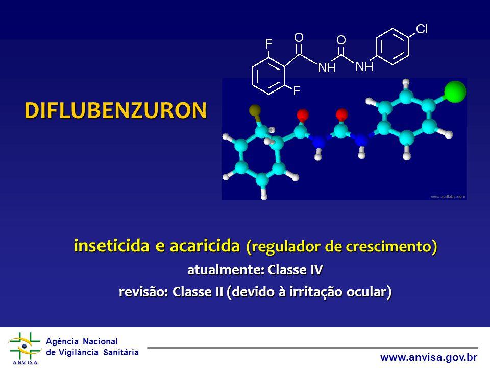DIFLUBENZURON inseticida e acaricida (regulador de crescimento)