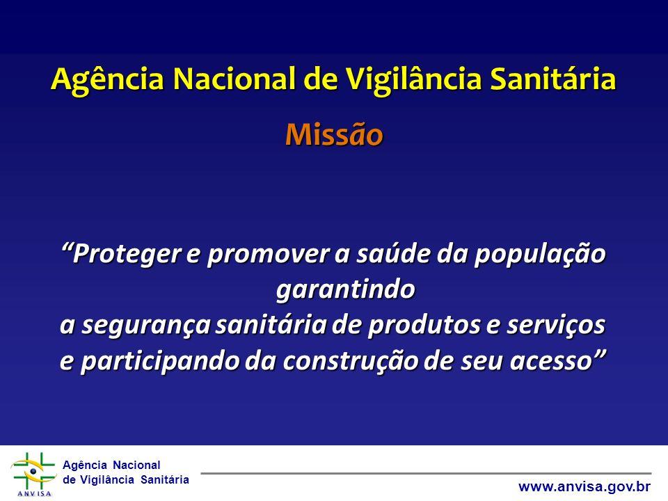 Agência Nacional de Vigilância Sanitária Missão