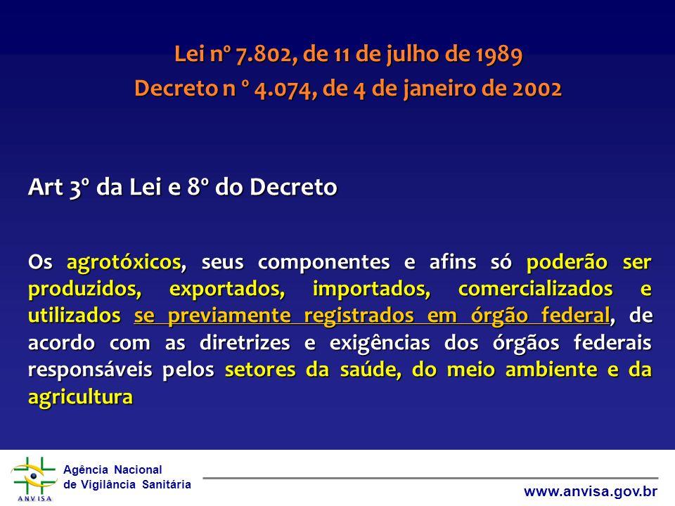 Decreto n º 4.074, de 4 de janeiro de 2002