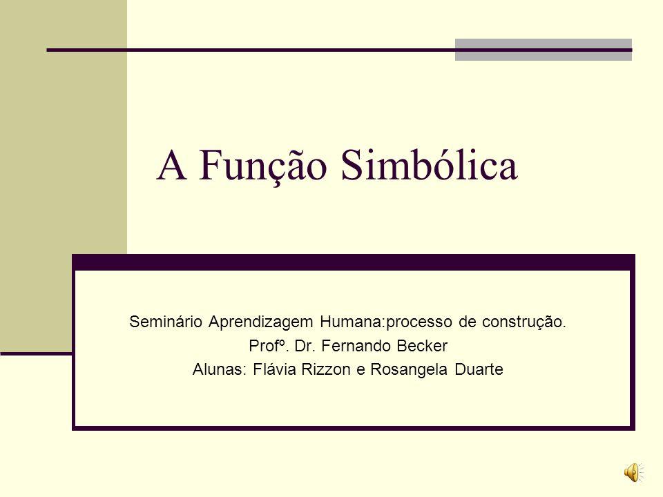 A Função Simbólica Seminário Aprendizagem Humana:processo de construção. Profº. Dr. Fernando Becker.