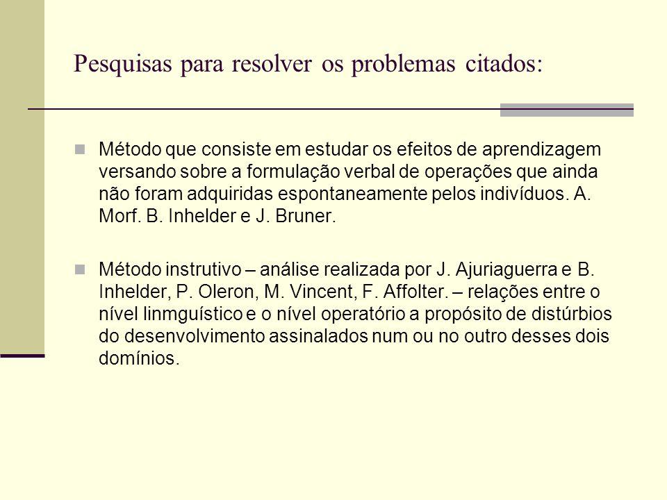 Pesquisas para resolver os problemas citados: