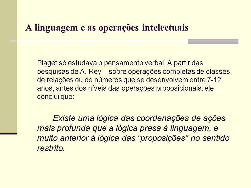 A linguagem e as operações intelectuais