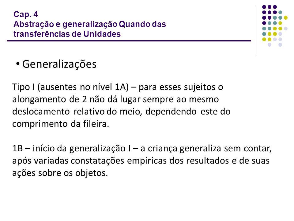Cap. 4 Abstração e generalização Quando das transferências de Unidades