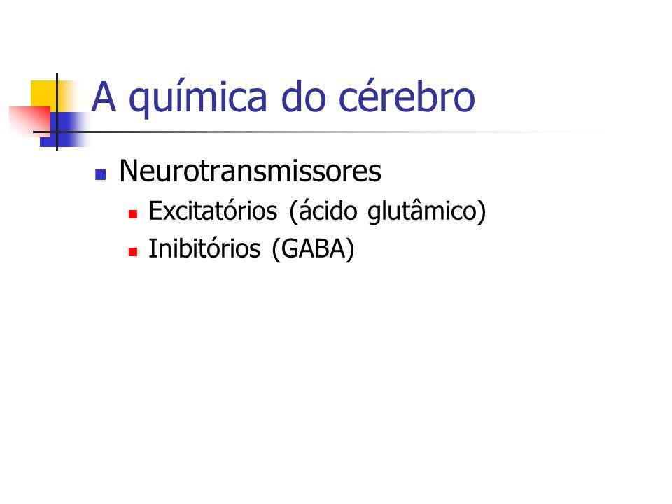 A química do cérebro Neurotransmissores Excitatórios (ácido glutâmico)