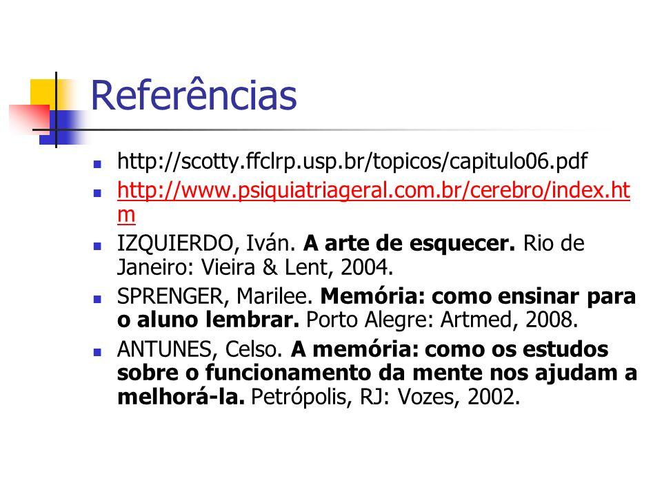 Referências http://scotty.ffclrp.usp.br/topicos/capitulo06.pdf