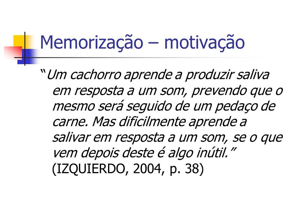 Memorização – motivação