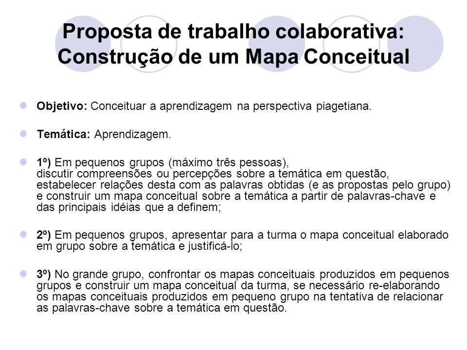 Proposta de trabalho colaborativa: Construção de um Mapa Conceitual