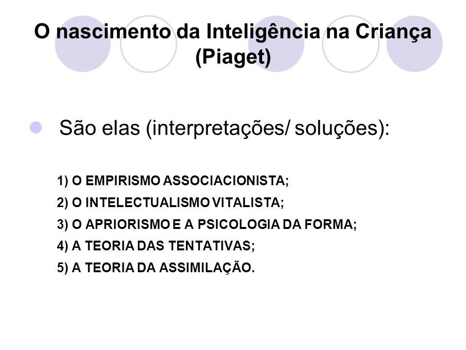 O nascimento da Inteligência na Criança (Piaget)