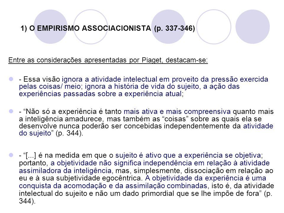 1) O EMPIRISMO ASSOCIACIONISTA (p. 337-346)