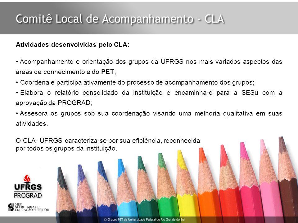 Atividades desenvolvidas pelo CLA: