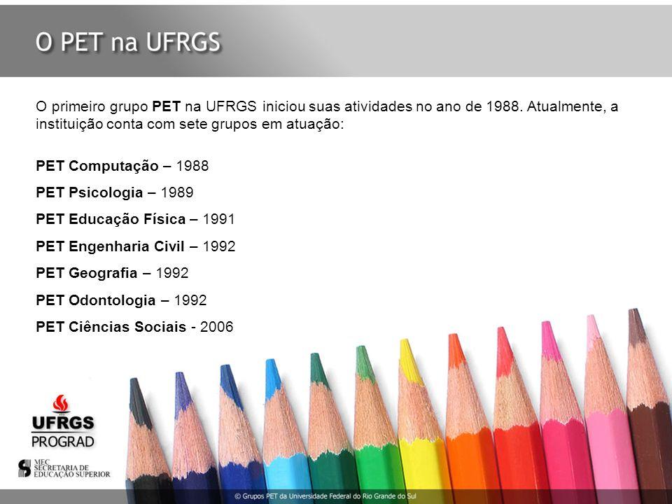 O primeiro grupo PET na UFRGS iniciou suas atividades no ano de 1988