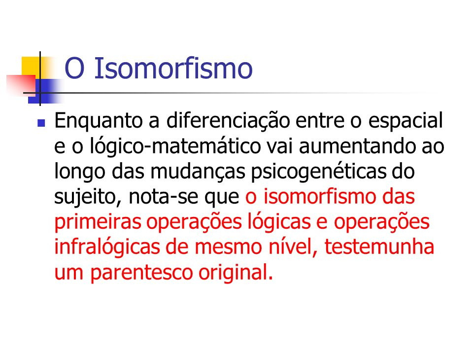O Isomorfismo