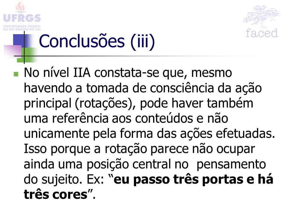 Conclusões (iii)