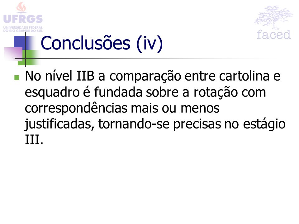 Conclusões (iv)