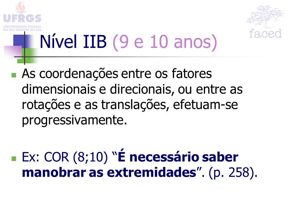 Nível IIB (9 e 10 anos)