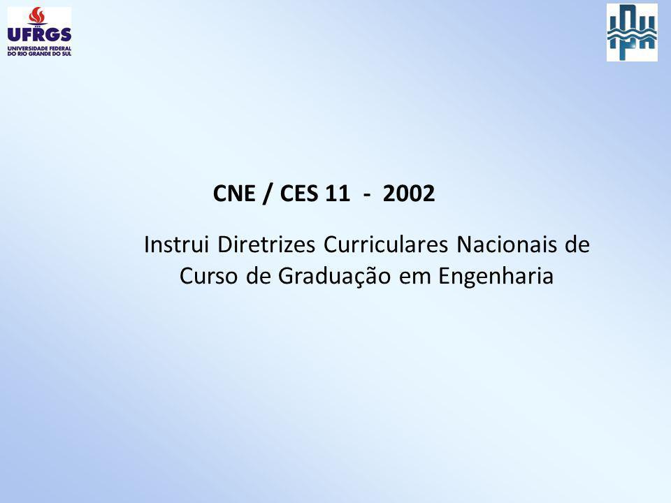CNE / CES 11 - 2002 Instrui Diretrizes Curriculares Nacionais de Curso de Graduação em Engenharia