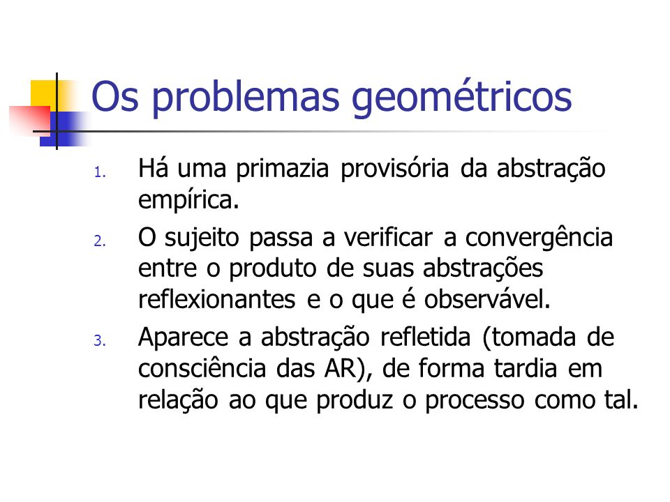 Os problemas geométricos