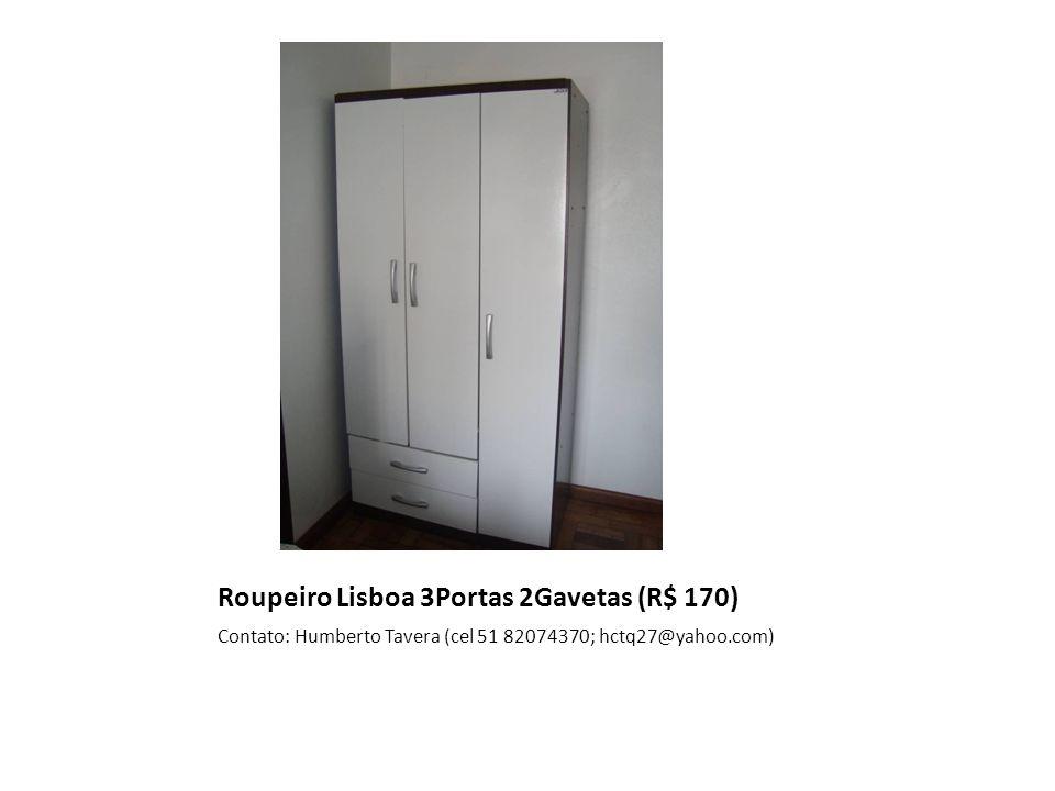 Roupeiro Lisboa 3Portas 2Gavetas (R$ 170)