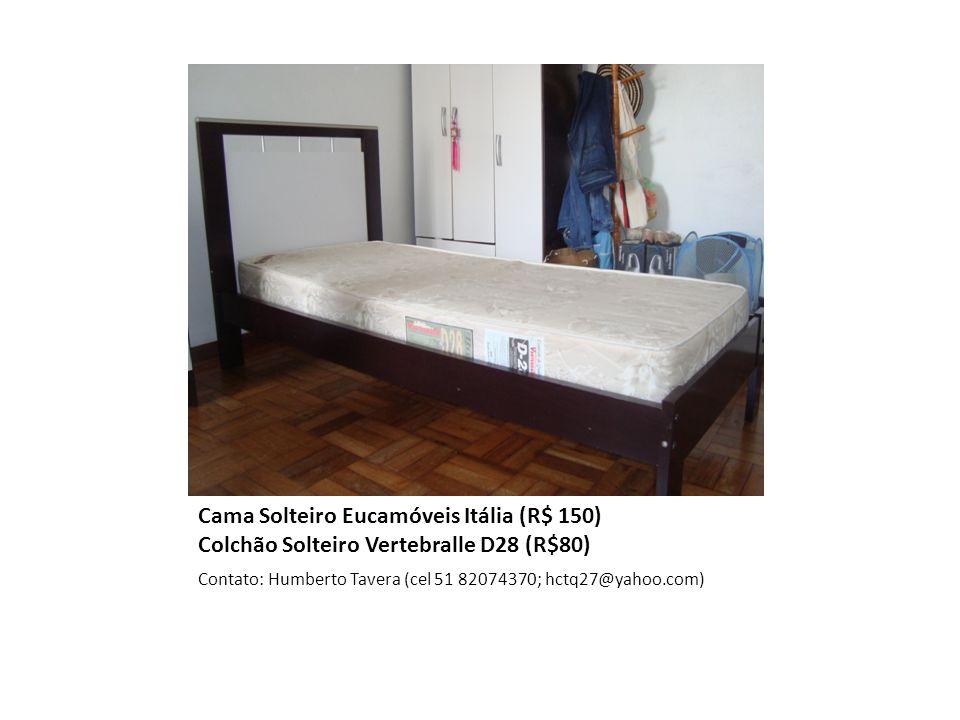 Cama Solteiro Eucamóveis Itália (R$ 150) Colchão Solteiro Vertebralle D28 (R$80)