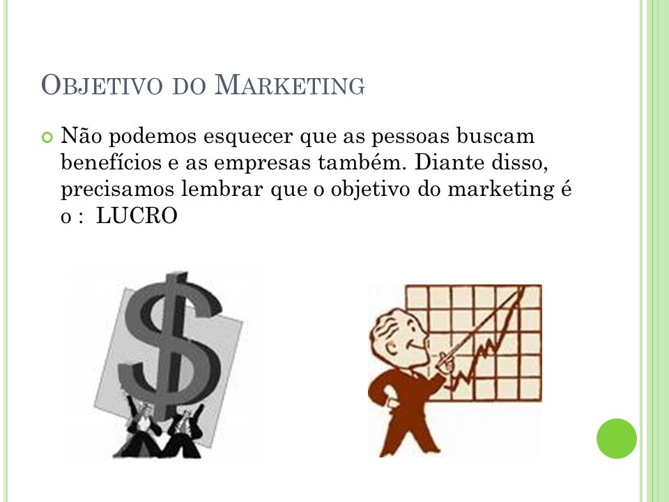 Objetivo do Marketing