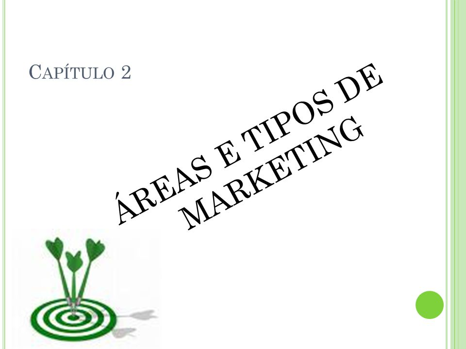 ÁREAS E TIPOS DE MARKETING