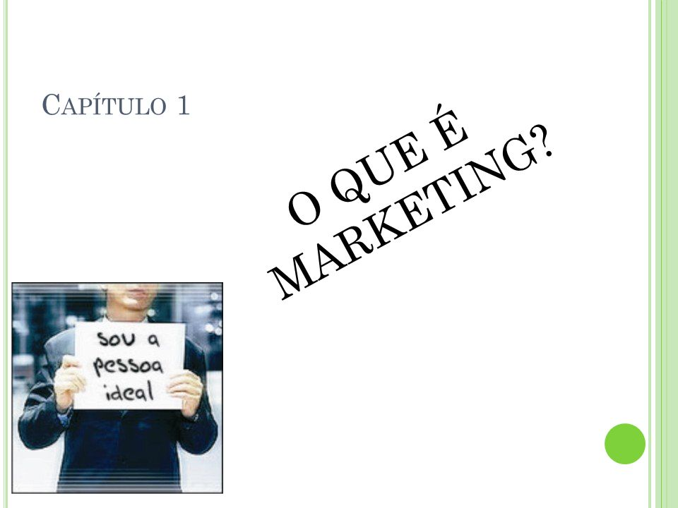 Capítulo 1 O QUE É MARKETING