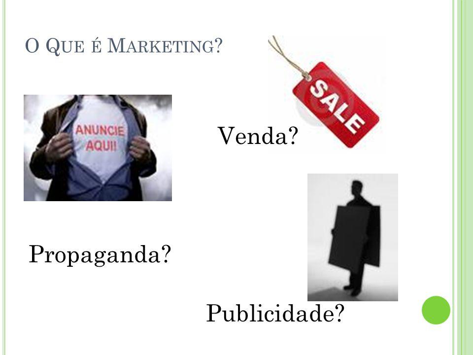 O Que é Marketing Venda Propaganda Publicidade