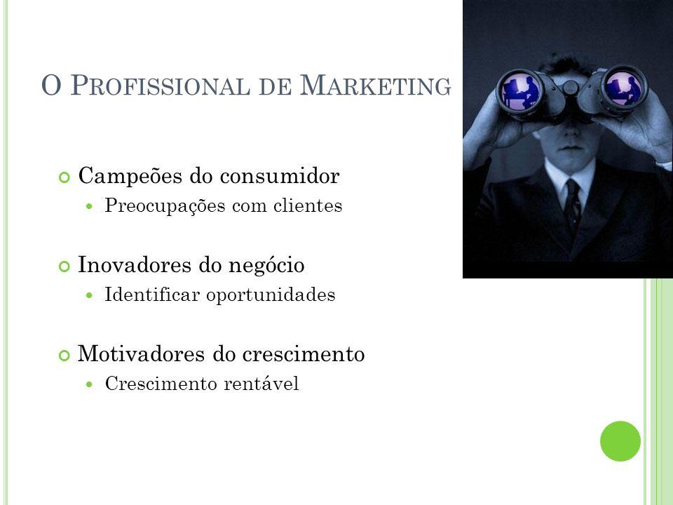 O Profissional de Marketing