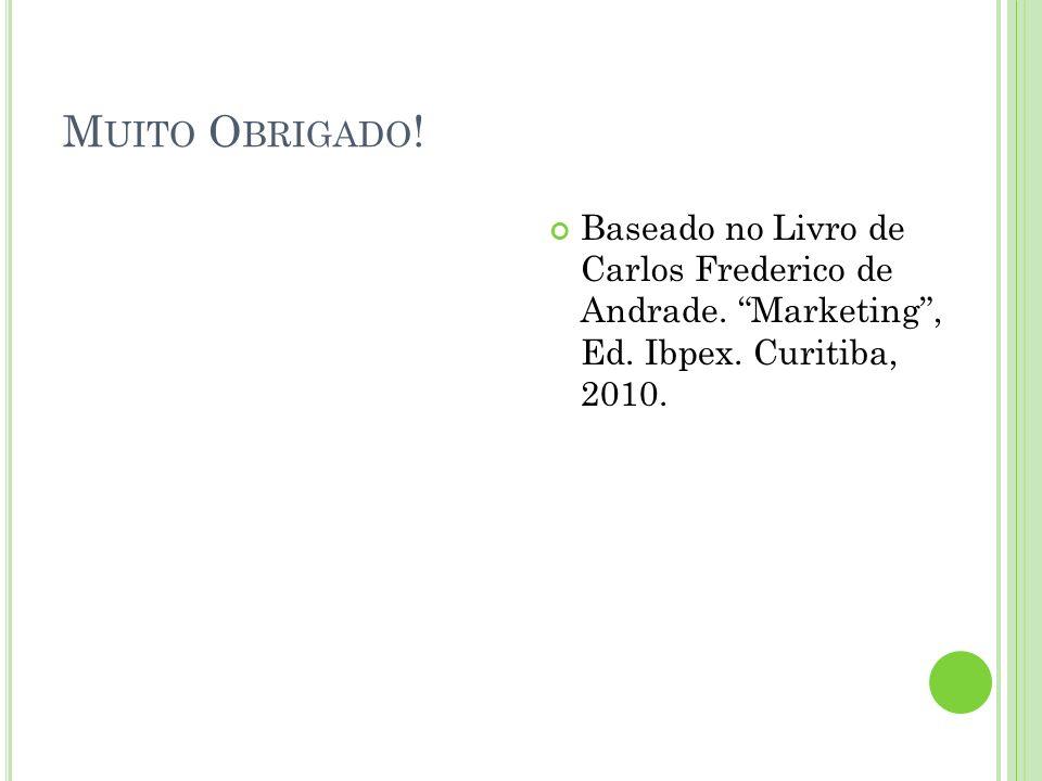 Muito Obrigado. Baseado no Livro de Carlos Frederico de Andrade.