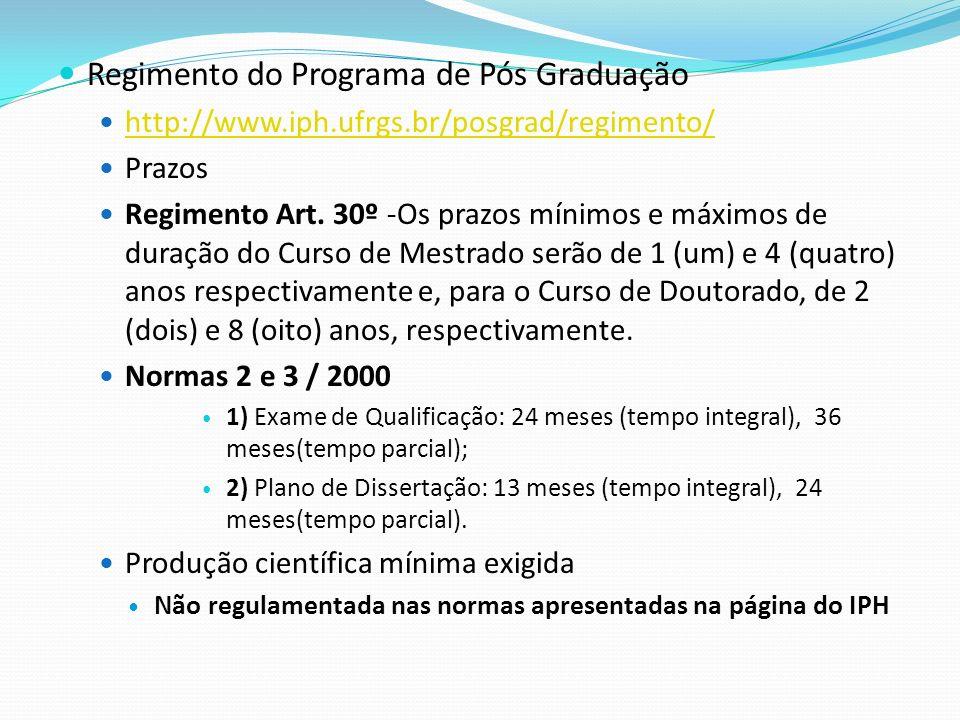 Regimento do Programa de Pós Graduação