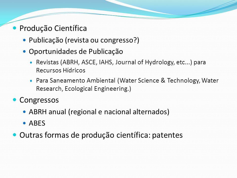 Outras formas de produção científica: patentes