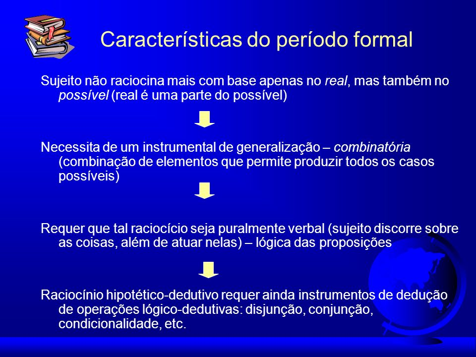 Características do período formal