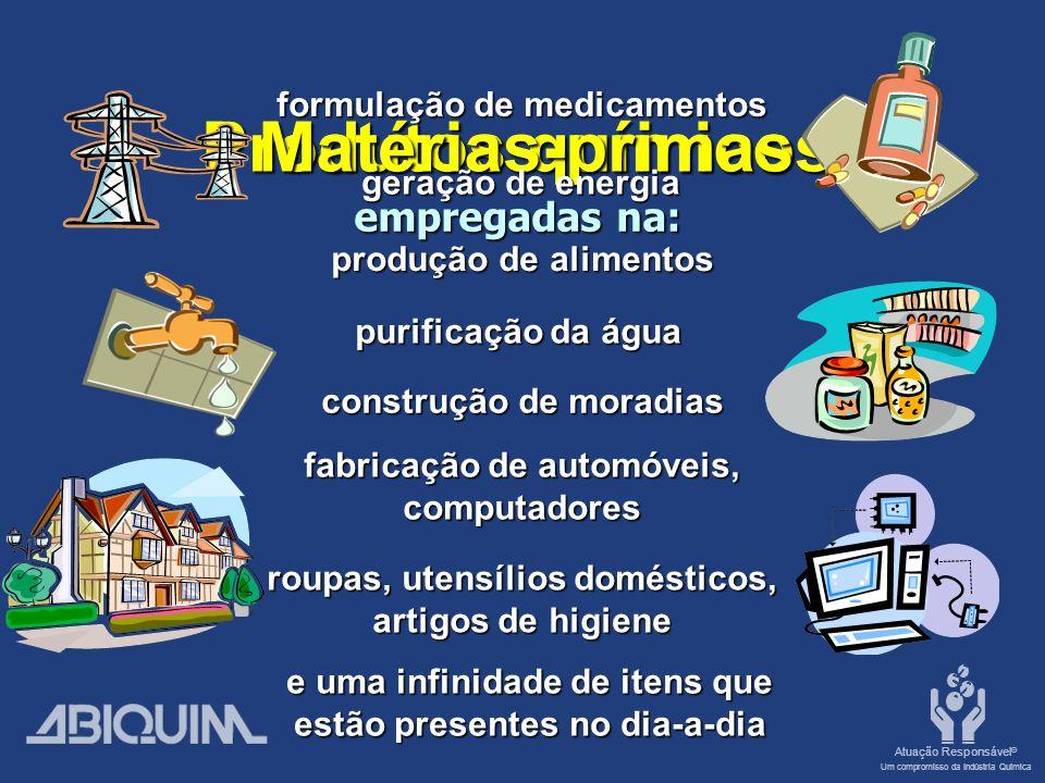 Matérias-primas Produtos químicos