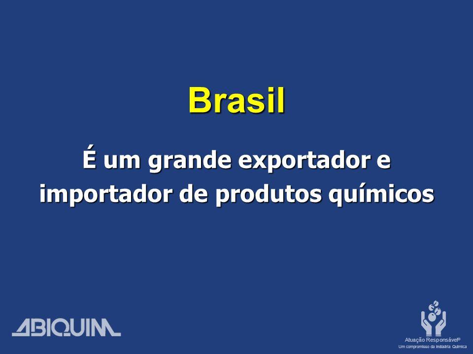 É um grande exportador e importador de produtos químicos