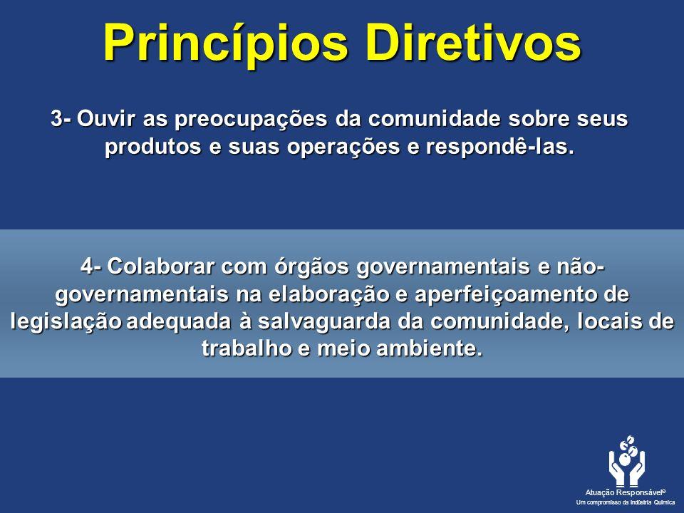 Princípios Diretivos 3- Ouvir as preocupações da comunidade sobre seus produtos e suas operações e respondê-las.