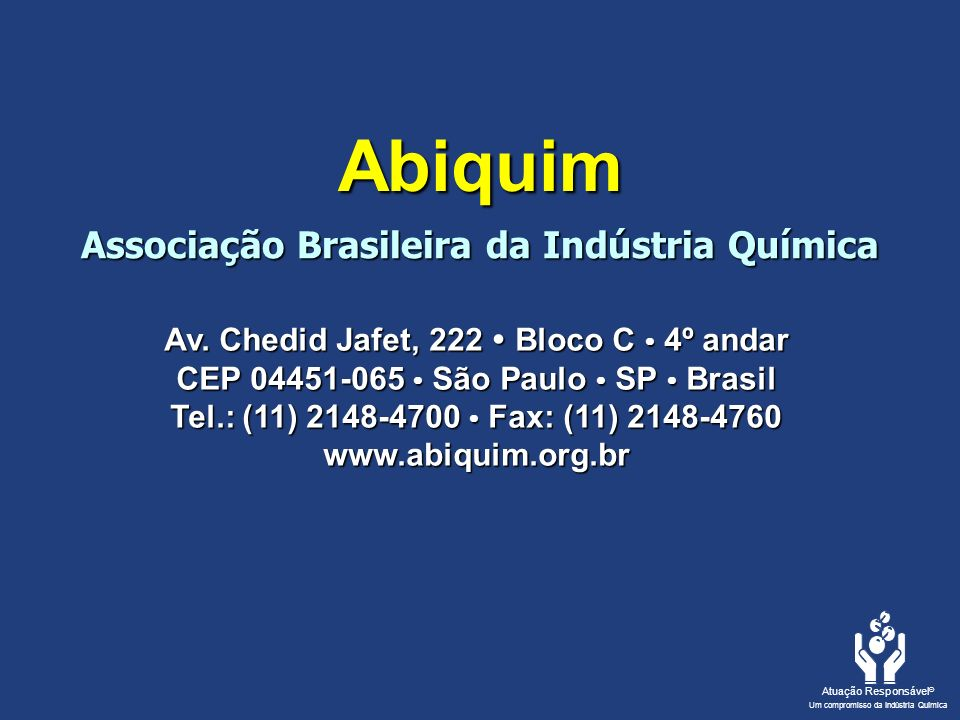Abiquim Associação Brasileira da Indústria Química