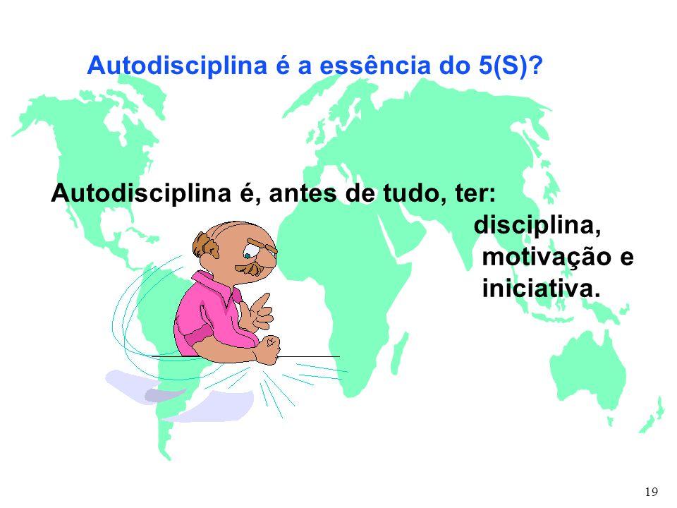 Autodisciplina é a essência do 5(S)