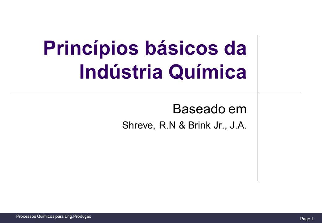 Princípios básicos da Indústria Química
