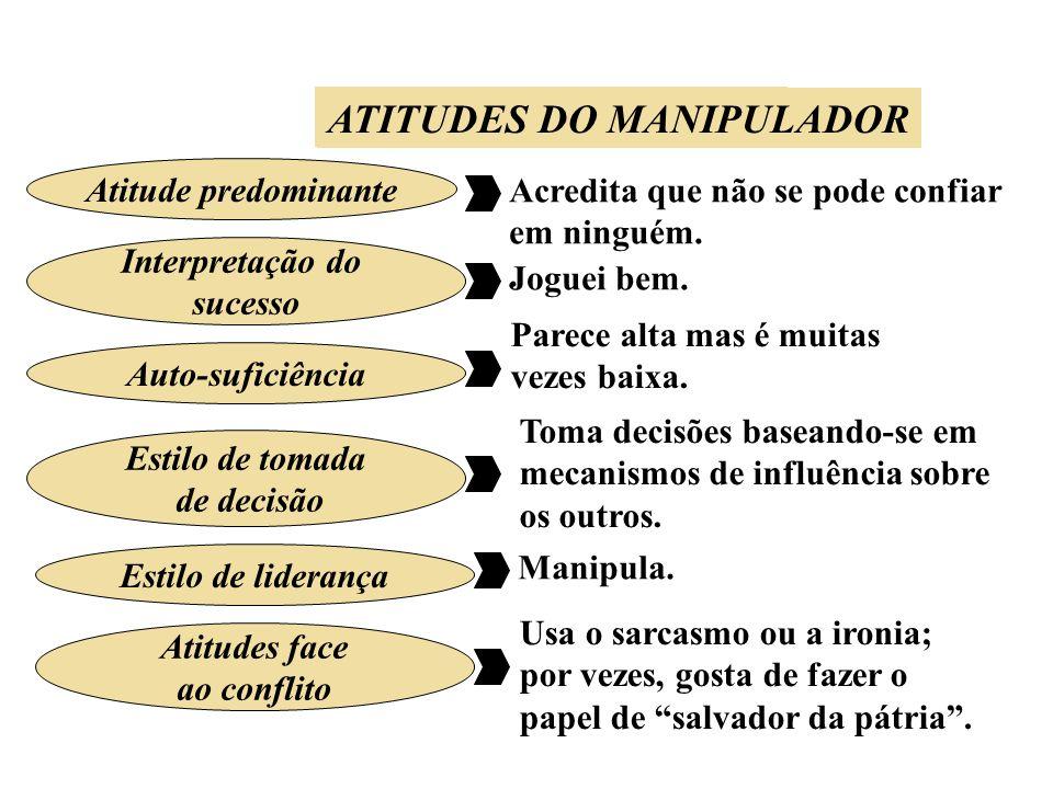 ATITUDES DO MANIPULADOR