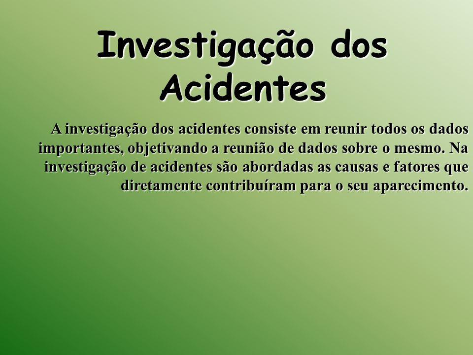 Investigação dos Acidentes