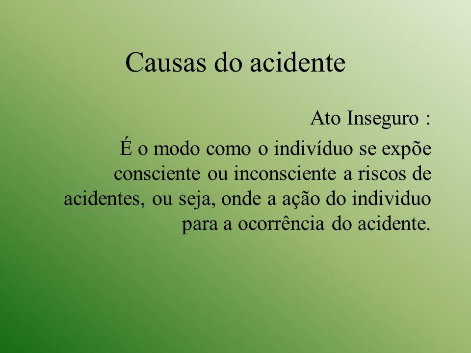 Causas do acidente