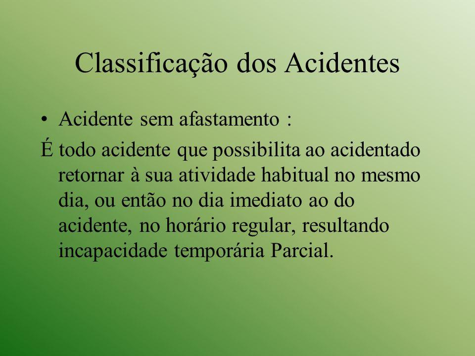 Classificação dos Acidentes