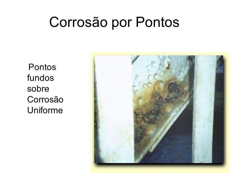 Corrosão por Pontos Pontos fundos sobre Corrosão Uniforme