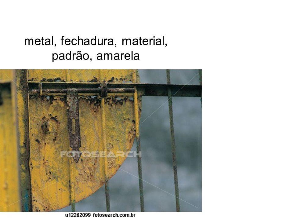 metal, fechadura, material, padrão, amarela