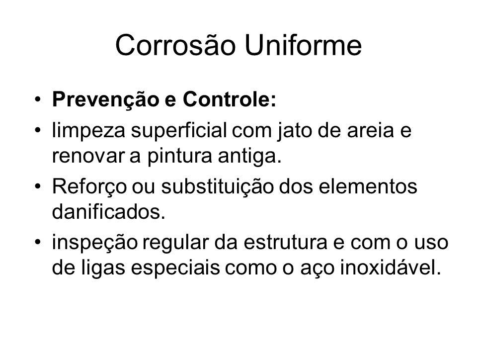 Corrosão Uniforme Prevenção e Controle: