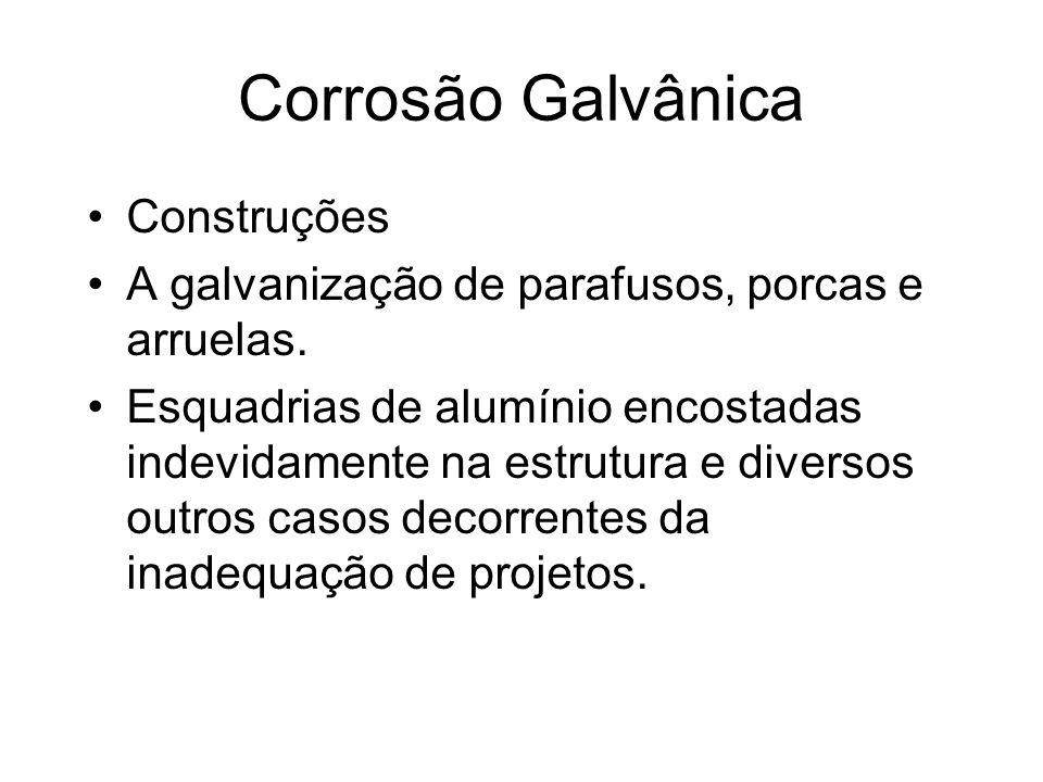 Corrosão Galvânica Construções