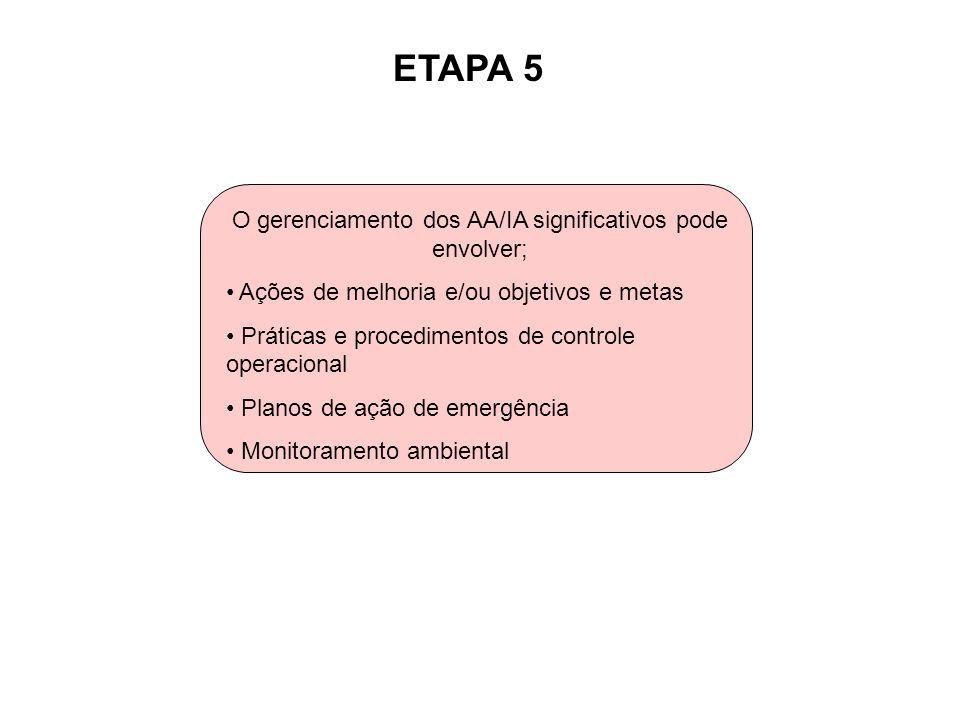 O gerenciamento dos AA/IA significativos pode envolver;
