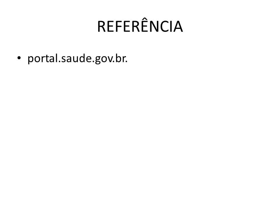 REFERÊNCIA portal.saude.gov.br.