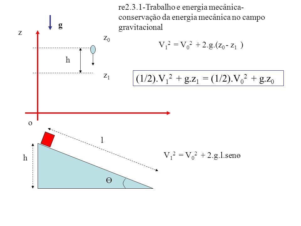 re2.3.1-Trabalho e energia mecânica-conservação da energia mecânica no campo gravitacional