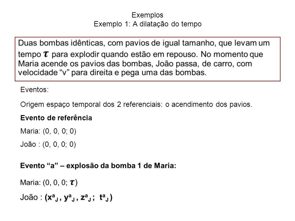 Exemplos Exemplo 1: A dilatação do tempo
